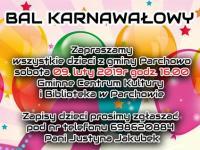 Bal karnawałowy dla dzieci w GCKiB Parchowo 2019r.