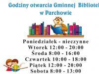 Nowe godziny otwarcia Biblioteki!