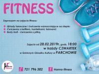 Zajęcia Fitness - zaproszenie